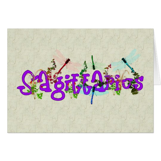 Sagittarius Flowers Card
