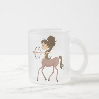 Sagittarius Frosted Glass Mug