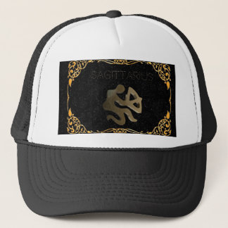 Sagittarius golden sign trucker hat