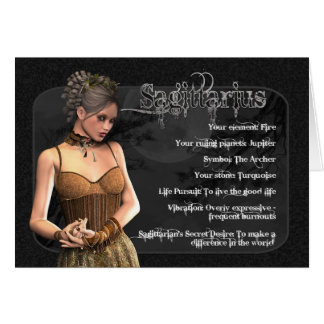 Sagittarius Gothic Zodiac Birthday Card