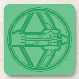 Sagittarius Green Coaster