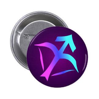 Sagittarius Horoscope Sign Pink Blue Aqua Purple 6 Cm Round Badge
