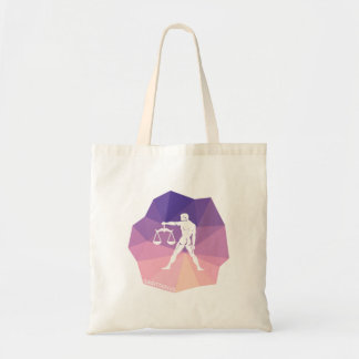 Sagittarius horoscope sign violet modern tote bag.