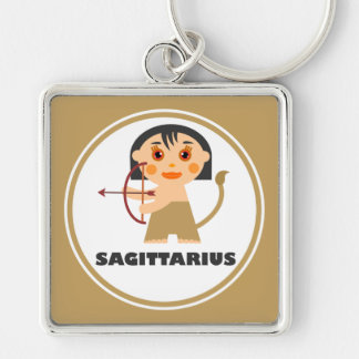 Sagittarius is my Zodiac Sign Silver-Colored Square Key Ring