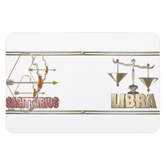 Sagittarius Libra friendship Vinyl Magnets