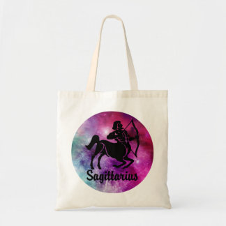 Sagittarius On Space Background Tote Bag