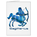 Sagittarius Profile Greeting Card