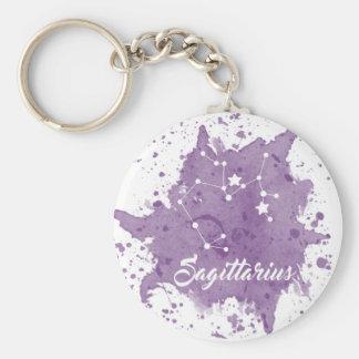 Sagittarius Purple Keychain
