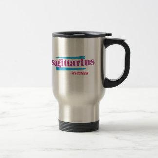 Sagittarius Purple Travel Mug