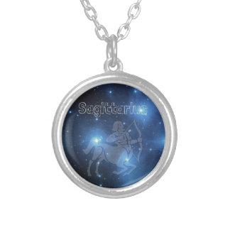 Sagittarius Silver Plated Necklace