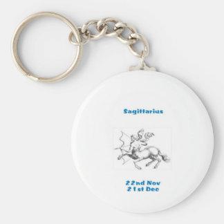 SAGITTARIUS STAR SIGN KEY RING BASIC ROUND BUTTON KEY RING