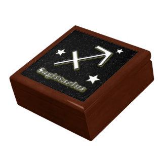 Sagittarius symbol gift box