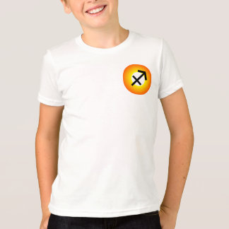 SAGITTARIUS T SHIRT for Kids - Zodiac Symbol White