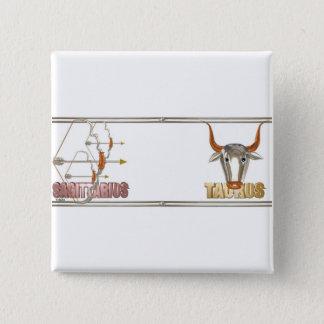 Sagittarius Taurus friendship 15 Cm Square Badge