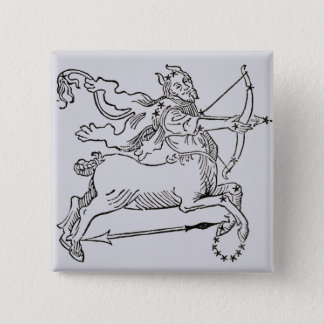 Sagittarius (the Centaur) an illustration from the 15 Cm Square Badge