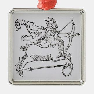 Sagittarius (the Centaur) an illustration from the Christmas Ornament