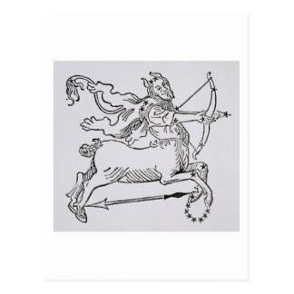 Sagittarius (the Centaur) an illustration from the Postcard