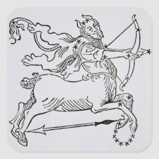 Sagittarius (the Centaur) an illustration from the Square Sticker