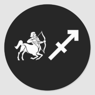 Sagittarius with Symbol Classic Round Sticker