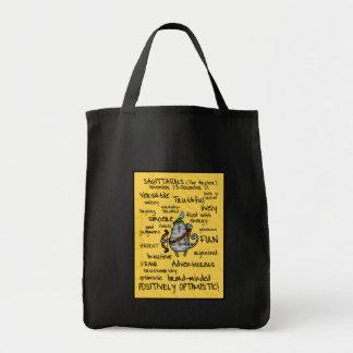sagittarius wordcloud bag