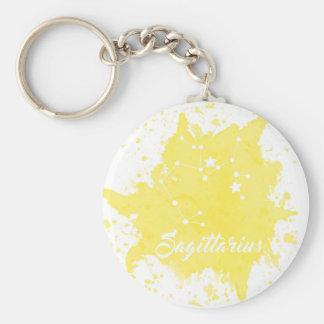 Sagittarius Yellow Keychain