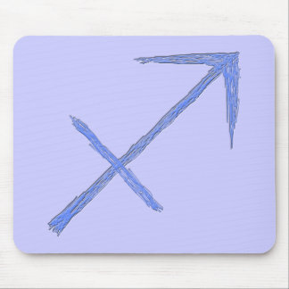 Sagittarius. Zodiac Astrology Sign. Blue. Mouse Mat