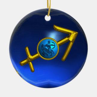 SAGITTARIUS ZODIAC BIRTHDAY JEWEL Blue Turquase Ornament