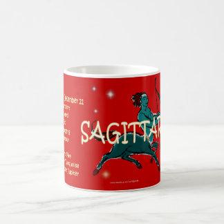 Sagittarius zodiac character coffee mug