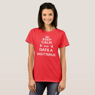 Sagittarius Zodiac Cool/Funny Gift - Date With T-Shirt