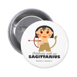 Sagittarius Zodiac for kids 6 Cm Round Badge