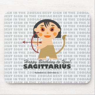 Sagittarius Zodiac for kids Mouse Pad