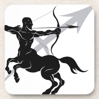 Sagittarius zodiac horoscope astrology sign beverage coasters