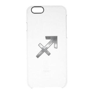 Sagittarius Zodiac In Grunge Distressed Steel look iPhone 6 Plus Case