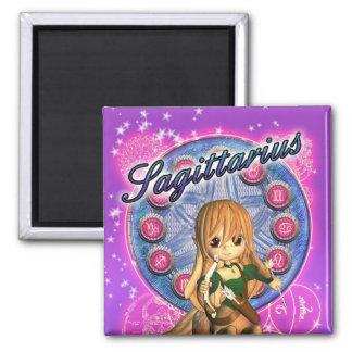 Sagittarius Zodiac Magnet Cute Female Centaur