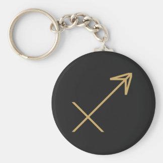 Sagittarius Zodiac Sign Basic Basic Round Button Key Ring
