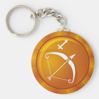 Sagittarius Zodiac Sign Basic Round Button Key Ring