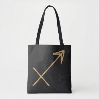 Sagittarius Zodiac Sign Basic Tote Bag