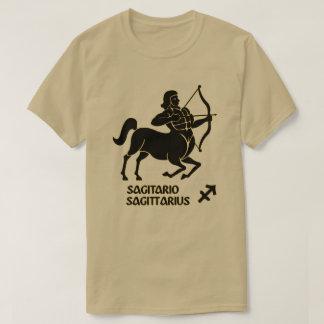 Sagittarius Zodiac Sign Black Gold Modern T-Shirt
