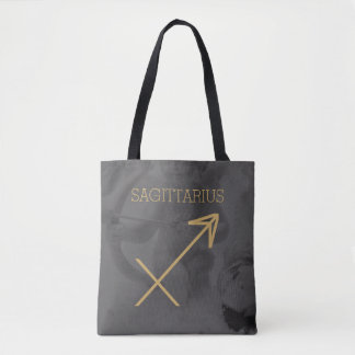 Sagittarius Zodiac Sign | Custom Background + Text Tote Bag