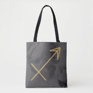 Sagittarius Zodiac Sign | Custom Background Tote Bag