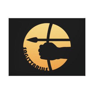 Sagittarius Zodiac Sign Gallery Wrapped Canvas
