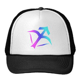Sagittarius Zodiac Sign Pink Blue Aqua Gradient Trucker Hat