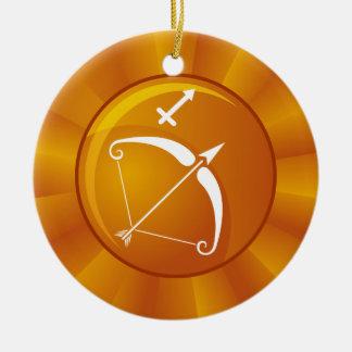 Sagittarius Zodiac Sign Round Ceramic Decoration