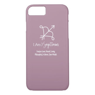 Sagittarius Zodiac Sign The Archer Orchid Haze iPhone 7 Case