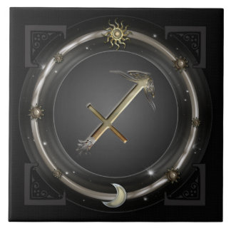 Sagittarius Zodiac Sign Tile