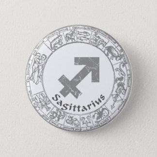 Sagittarius Zodiac sign vintage 6 Cm Round Badge