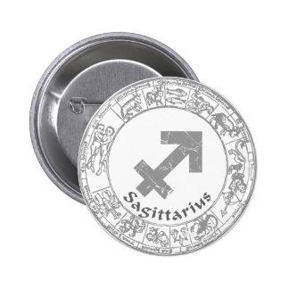 Sagittarius Zodiac sign vintage 6 Cm Round Badge