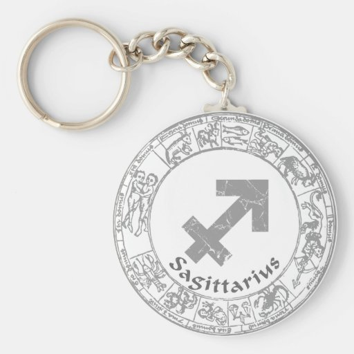 Sagittarius Zodiac sign vintage Key Chains