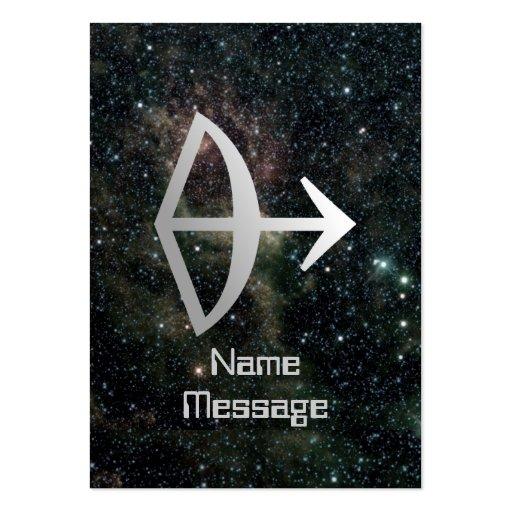 Sagittarius Zodiac Star Sign Universe Business Card Templates