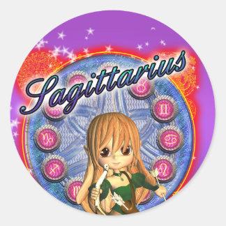 Sagittarius Zodiac Sticker Cute Female Centaur